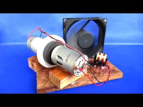 Free energy fan electricity 12V generator with DC motor - Easy experiments at home thumbnail