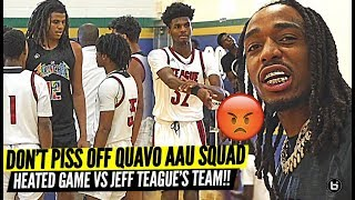 DON'T PISS OFF QUAVO!! TEAM HUNCHO 15U HEATED COMEBACK VS NBA JEFF TEAGUE AAU SQUAD!