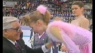 Nancy Kerrigan - Reaction on Oksana Baiul Winning Gold