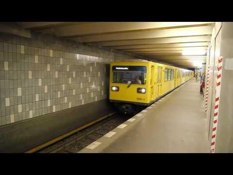 U-Bahn Berlin Bahnhof Senefelderplatz als Endhaltestelle der U2 wegen Bauarbeiten [1080p]