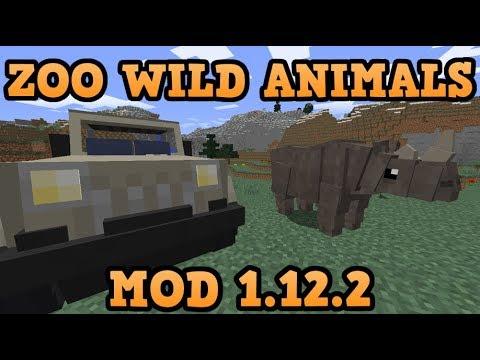 ZOO WILD ANIMALS REBUILD MOD (1.12.2)! EL MEJOR MOD DE ANIMALES! Minecraft review en español 2018