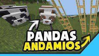 👉¡YA LLEGARON LOS PANDAS!🐼- Minecraft PE 1.8 - 🐈¡Bambú, Andamios, Gatos Nuevos!👈
