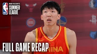 CHINA vs HORNETS | Zhou Qi Puts Up 17 Pts, 9 Rebs, 4 Blks | MGM Resorts NBA Summer League