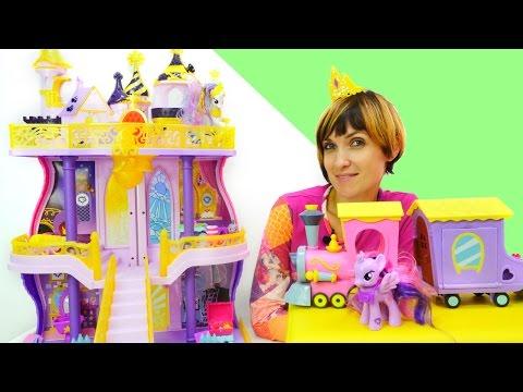 Мультик из игрушек Литл пони - Селестия и замок принцессы