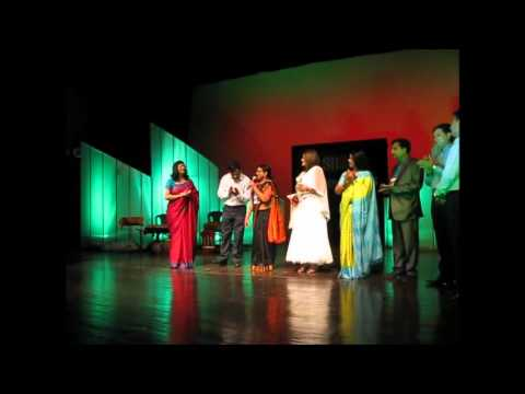 sharda sinha(live performance) awarded by aadhi-aabaadi for...