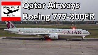 Qatar Airways Boeing 777-300ER evening takeoff from Berlin TXL