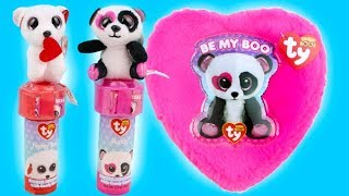 Valentine's Day Beanie Boo Gift and Candy Review- What's Inside?