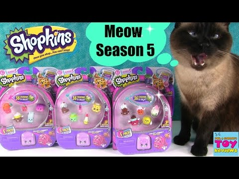 Shopkins SEASON 5 Pack Opening Unboxing Toy Review | PSToyReviews