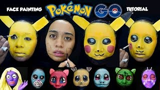 Pokemon Go Facepainting Tips & Tutorial   Berubah menjadi 8 Karakter Pokemon, Pikachu dkk