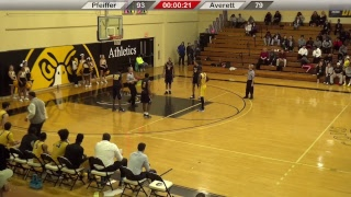 Pfeiffer Men's Basketball vs. Averett