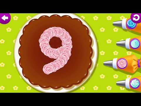 Funny Food 123 Kids Number Games for Toddlers educational game for kids part 1