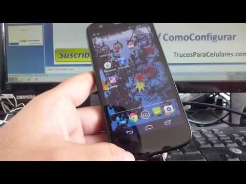 Como pasar musica al Android Motorola Moto G X T1032 español comoconfigurar