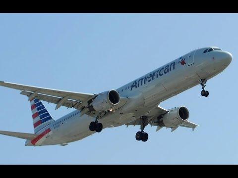 American Airlines (US Airways) Airbus A321-211 [N173US] landing in LAX