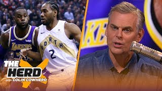 Colin Cowherd lays out 5 different FA outcomes for Lakers & discusses Kawhi's plans | NBA | THE HERD