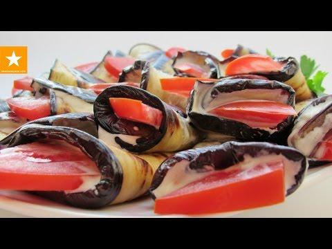 Баклажановые рулетики - любимая закуска из баклажанов от Мармеладной Лисицы