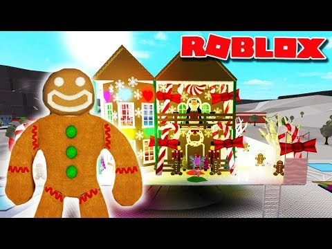 I MADE A GINGERBREAD HOUSE | Bloxburg Roleplay | Roblox