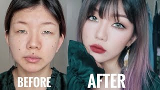 How to look less like a zombie? 5 Minutes Magic - Simple Monolid Makeup
