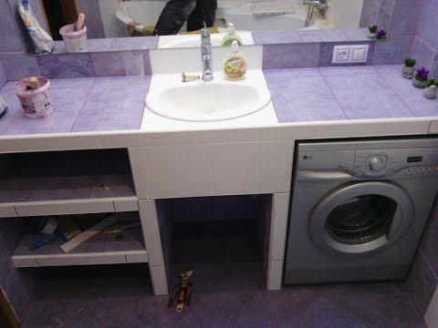 Стол под умывальник в ванную своими руками 45