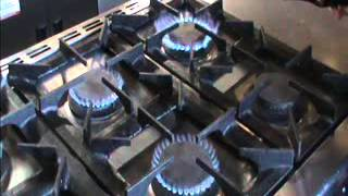Burco 6 Ring Gas Cooker With Oven