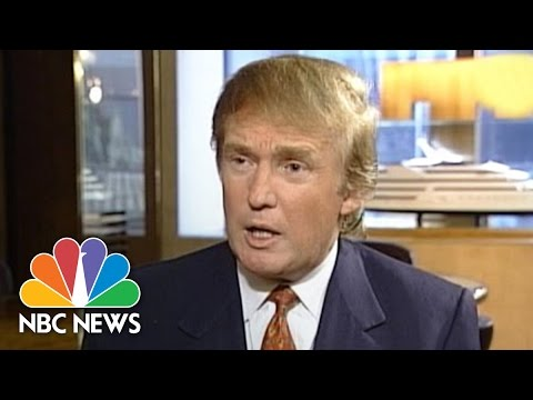 1998: Donald Trump Comments On Bill Clinton And The Lewinsky Scandal | NBC News
