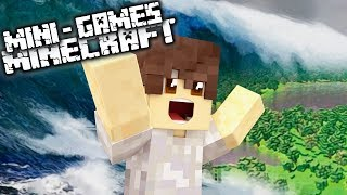 MINECRAFT: RETO DE LA BASE VS TSUNAMI GINGANTE ¿NOS SALVAREMOS?