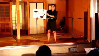 学んだ白保方言で語る比嘉陽花さんの舞台in石垣島