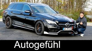 612 HP BEAST performmaster Mercedes-AMG C63S Estate/Wagon/T-Modell FULL REVIEW test driven 2016