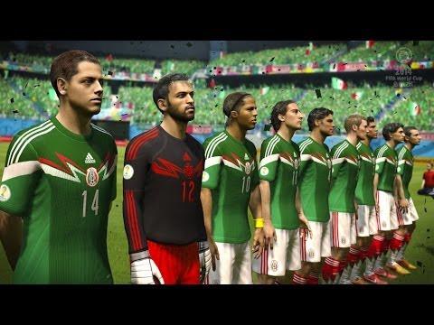 Fifa World Cup Brasil 2014   México Vs Inglaterra   PS3 Gameplay
