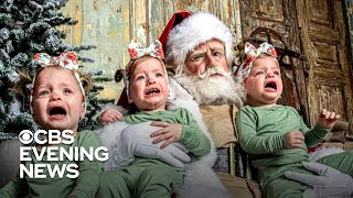 Photo trend has parents hoping their kids will cry with Santa