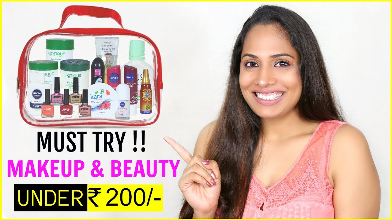 Under Rs 200/- Budget - 25 MUST TRY Affordable Makeup & Beauty Products | ShrutiArjunAnand