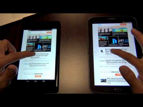 Nexus 7 2013 vs Samsung Galaxy Note 8.0