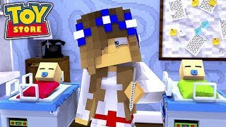 WORKING IN THE DOLL HOSPITAL! w/Little Carly (Minecraft Toystore).