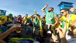 Os fãs do Brasil na Rússia 2018  Fans of Brazil in Russia  World Cup 2018