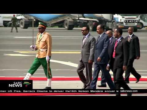 Eritrean president Isaias Afwerki arrives in Ethiopia thumbnail