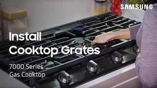 02. How to install and use the Cooktop grates | Samsung US