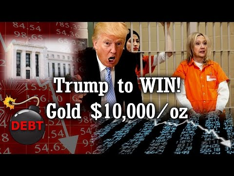 Rickards: Trump will win, markets to crash, Gold to rise $10k/oz