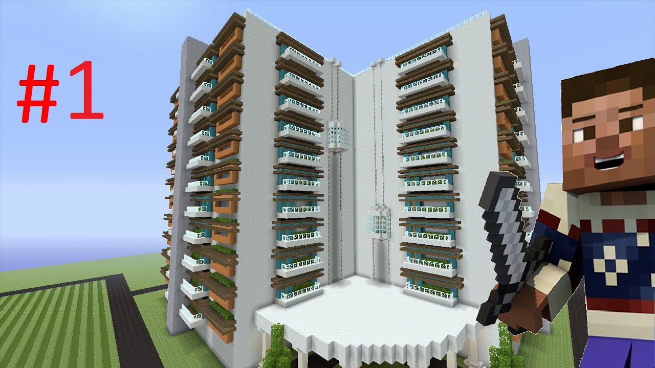 How To Build A Modern Hotel In Minecraft Part 1 YouTube