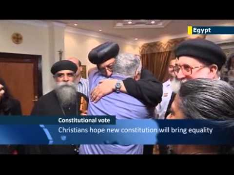 Egyptian president reaches out to persecuted Coptic Christian minority ahead of Constitution vote