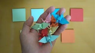 Làm đồ chơi trẻ em - Xếp hạc giấy 7 màu cho bé