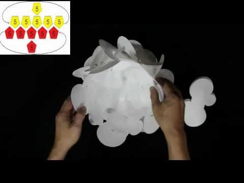 How to make a 30 piece Round Flower Petals Lampshade - Smarty Lamps Video