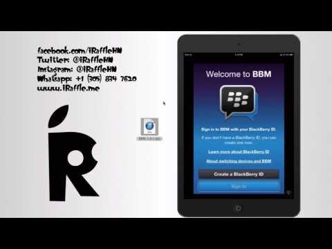 Como Instalar BBM En iPad Version Wifi Sin Jailbreak - www.iRaffle.me