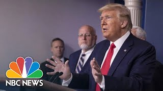 Trump And Coronavirus Task Force Brief From White House | NBC News (Live Stream)