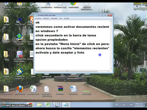 Documentos Recientes en Windows 7