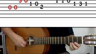 Guitar lesson 4A : Beginner — 'Happy Birthday' on three strings