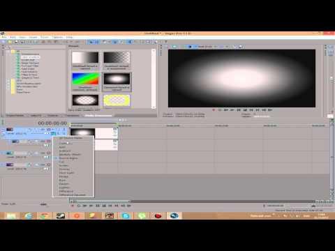 Как быстро создать лёгкую заставку в sony vegas pro 10 видео