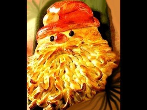 "Новогодняя выпечка. Пирог ""Дед Мороз"""
