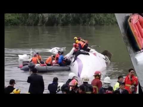 ✈TransAsia Airways - 31 Dead as Taiwan Plane Crashes into RIVER
