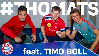 ThoMats #8 | Table Tennis Challenge w/ Timo Boll | Müller vs. Hummels