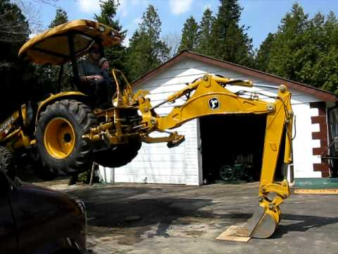 John Deere 110 tlb power demonstration
