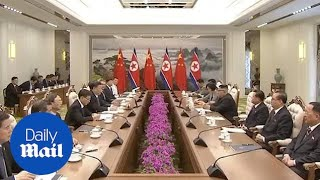 China's Xi Jinping and North Korea's Kim Jong Un meet in Pyongyang
